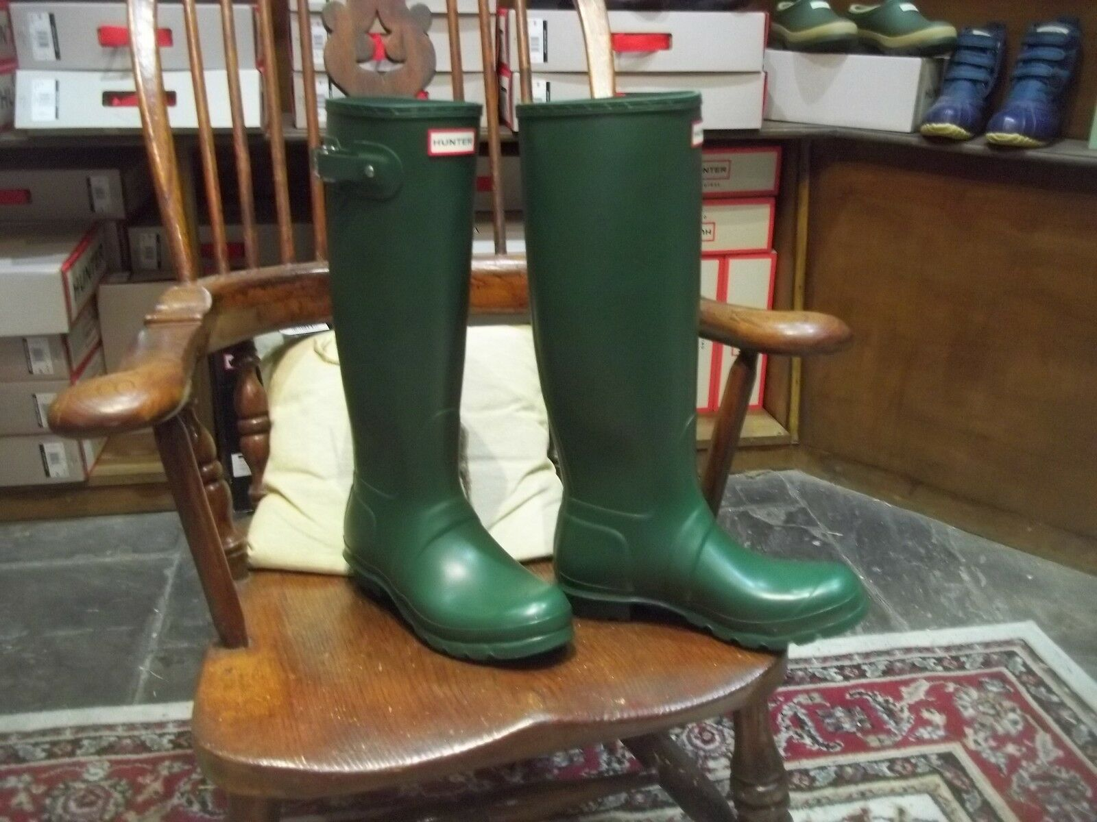 Hunter Green Damas Wellingtons en Halifax tamaño 7 alto de alto 7 Para Mujer Original db4c3f
