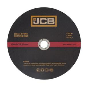 """230mm x 3mm  x 22.23mm Bore STONE GRINDING DISC 9/"""" x75 DISC 8414 JCB"""