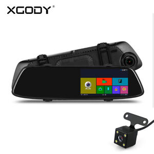 Dual-Lens-Car-DVR-Dash-Video-Cam-Mirror-Recorder-Rear-View-Camera-Night-Vision