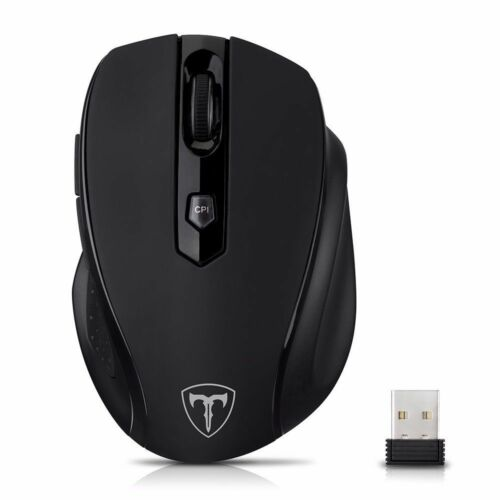 Nano Receiver For Laptop Mac US 2.4GHz Wireless 2400DPI 6 Button Gaming Mouse
