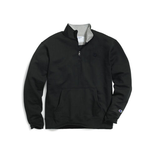Champion Men/'s Powerblend Fleece 1//4 Zip Pullover