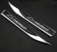 NEW 2pcs Metal Black for chevy Blade FENDER BADGE Emblems Sticker for sport