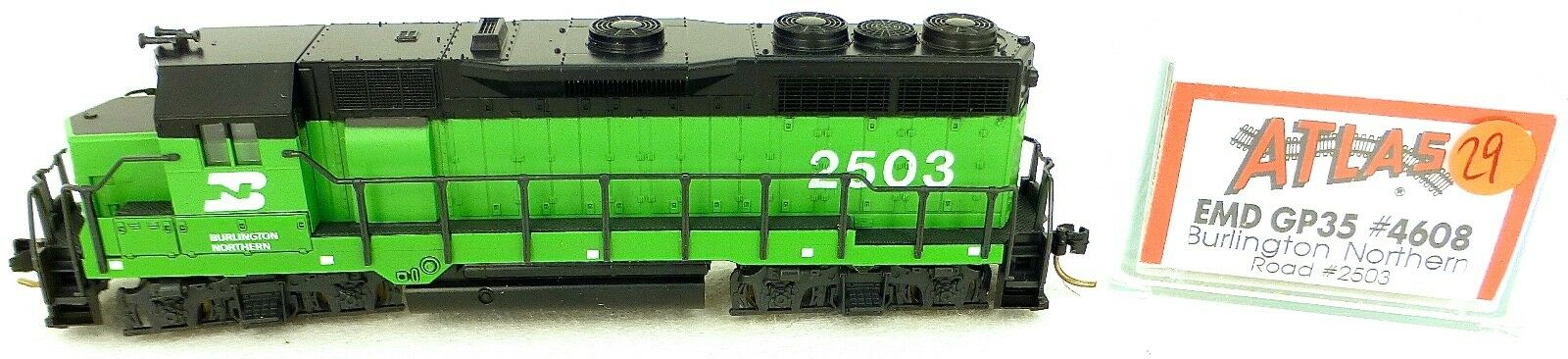 Atlas 4608 Kato EMD GP35 Burlington Northern Road 2503 Locomotiva Diesel N 1 160