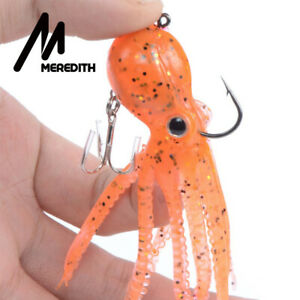 Soft Silicone Saltwater Octopus Bait Fishing Tackle Squid Skirt Lure long tail