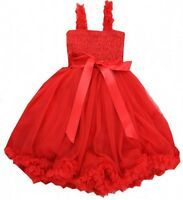 Toddler / Infant Holiday Christmas Red Princess Petti Dress See Sizes