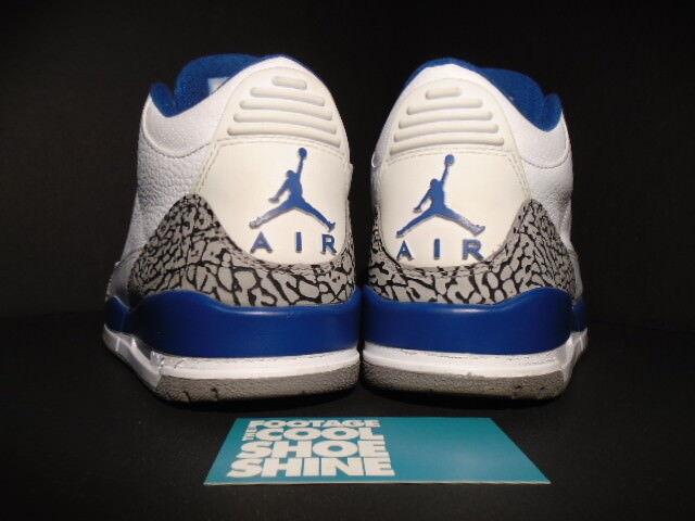 Nike Air Jordan III 3 Retro Weiß TRUE TRUE TRUE Blau CEMENT grau FIRE rot 136064-104 8.5 a5cc30
