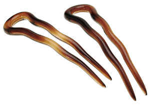 France Luxe Small Hair Pin Pair - Tortoise