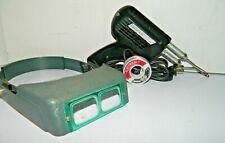 Weller D550 120 Volt Soldering Gun 260200 Watt Magnifying Magnifier Head Set
