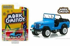 1972-Jeep-CJ-5-Blue-034-Mork-amp-Mindy-034-1-64-Diecast-Model-Car-By-Greenlight-44830A