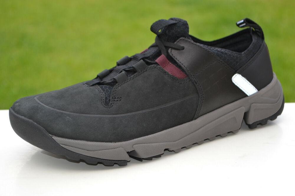 Clarks Entièrement Neuf Dans Sa Boîte Homme Chaussures De Loisirs Tri Track Lo Noir Combi Uk 7/41 Rrp £ 80