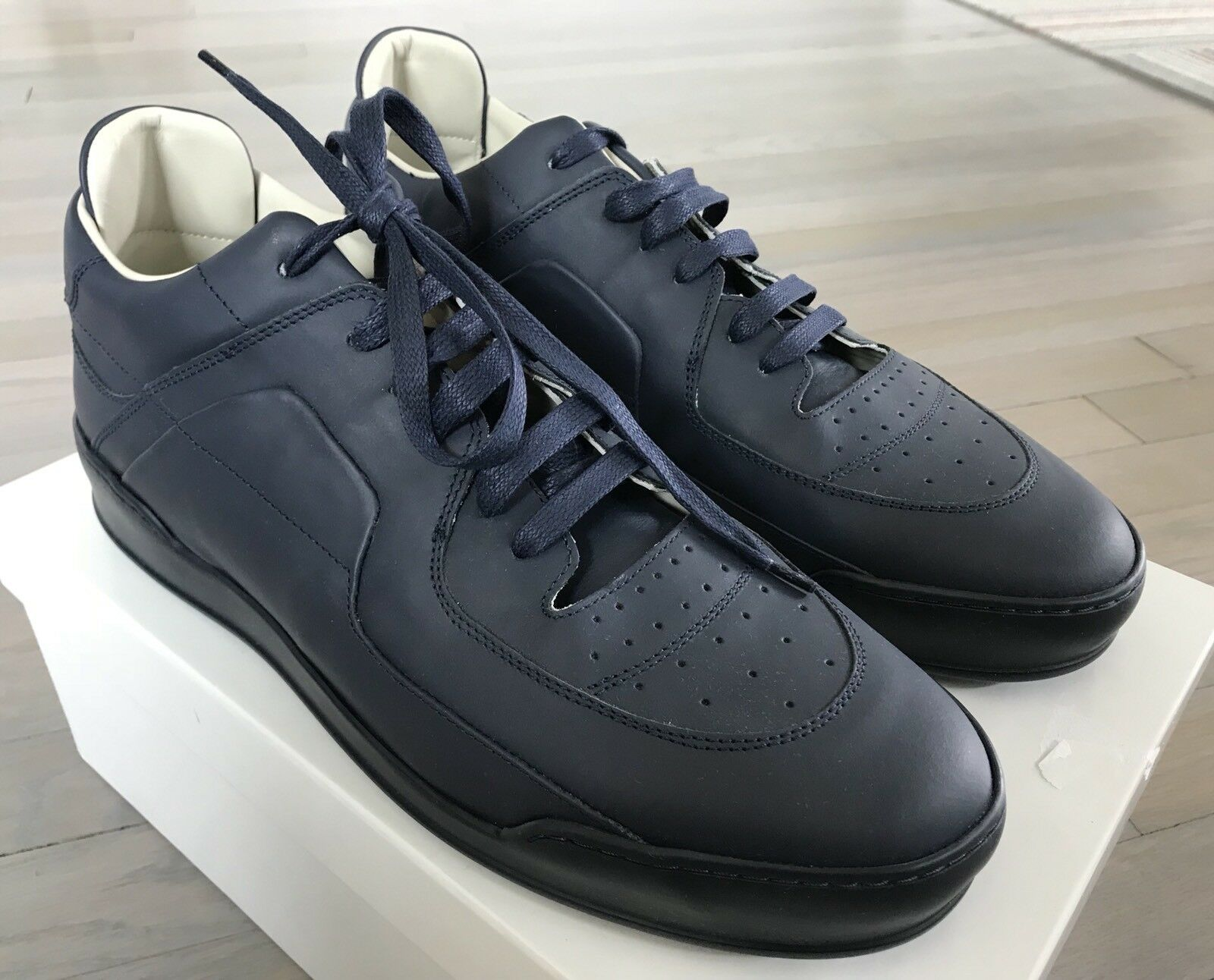 550 Maison Margiela Navy Blue Leather Sneakers size US 9 Made in Italy