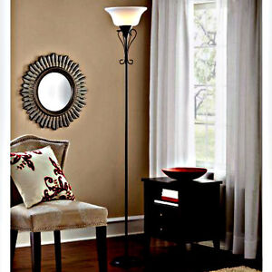 Elegant living room torchiere scroll floor decor lamp - Elegant floor lamps for living room ...