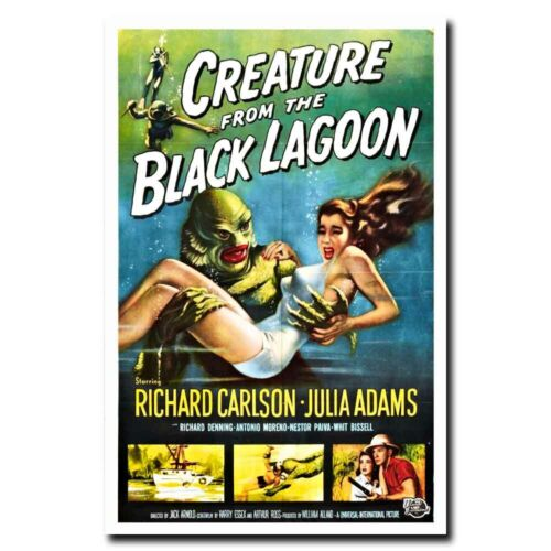"""Creature from the Black Lagoon 24/""""x36/"""" 1954 Old Horror Movie Silk Poster"""