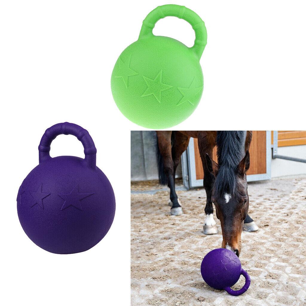 2x Pony Bounce Jolly Ball Stable Field Toy Anti-Burst Horse Soccer Balls