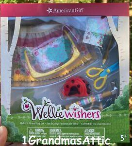 American Girl WellieWishers Make It Great Play Set  Apron Hammer Wellie Wishers