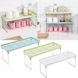 Standing-Rack-Kitchen-Bathroom-Countertop-Storage-Organizer-Shelf-Holder-Rack-CH