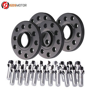 4pc 15mm Hubcentric Wheel Spacers 5x100 5x112 with 14x1.5 Bolts for Audi CB 57.1