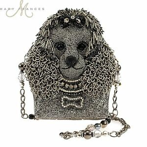 Image Is Loading Mary Frances Lulu Beaded Poodle Shoulder Handbag Dog
