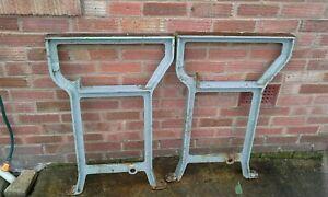 Vintage-2-Cast-iron-legs-dinning-industrial-work-bench-garden