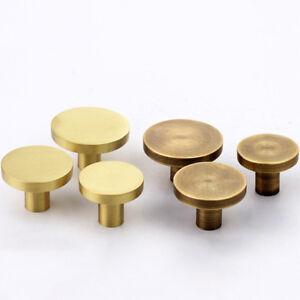 Antique-Brass-Door-Drawer-Pull-Handle-Knob-Circle-Kitchen-Cupboard-Cabinet