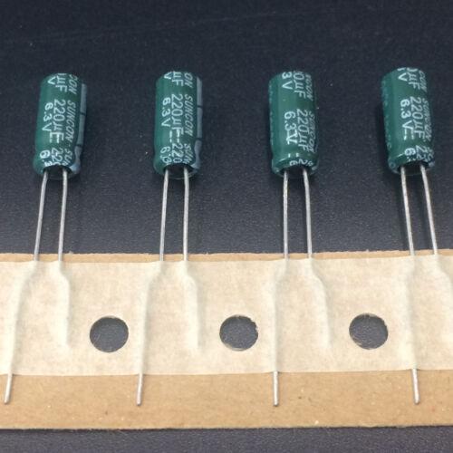 CZ Wide Range Temperature Capacitor SANYO 100pcs 220uF 6.3V220UF 5X11 SUNCON