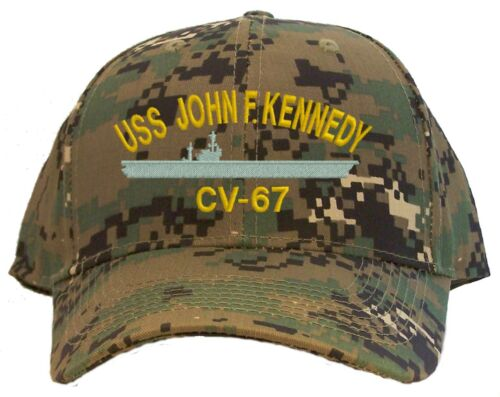 Kennedy CV-67 Embroidered Baseball Cap Available in 7 Colors Hat USS John F