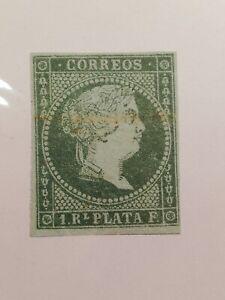 Spanish-Stamps-Spain-1855-Isabella-II-SC38-SCOTT-1300-USD