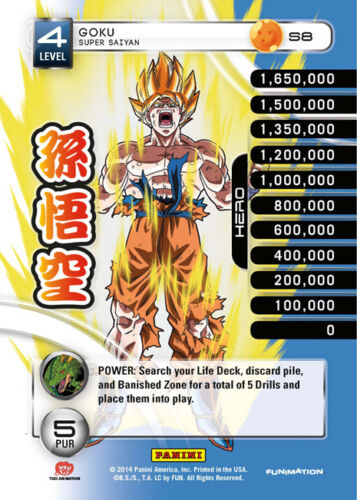 Rainbow Prism Foil Dragon Ball Z 2014 Starter Deck DB 1 Goku Super Saiyan S8