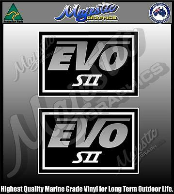 EVO SII BOAT DECALS STACER PAIR