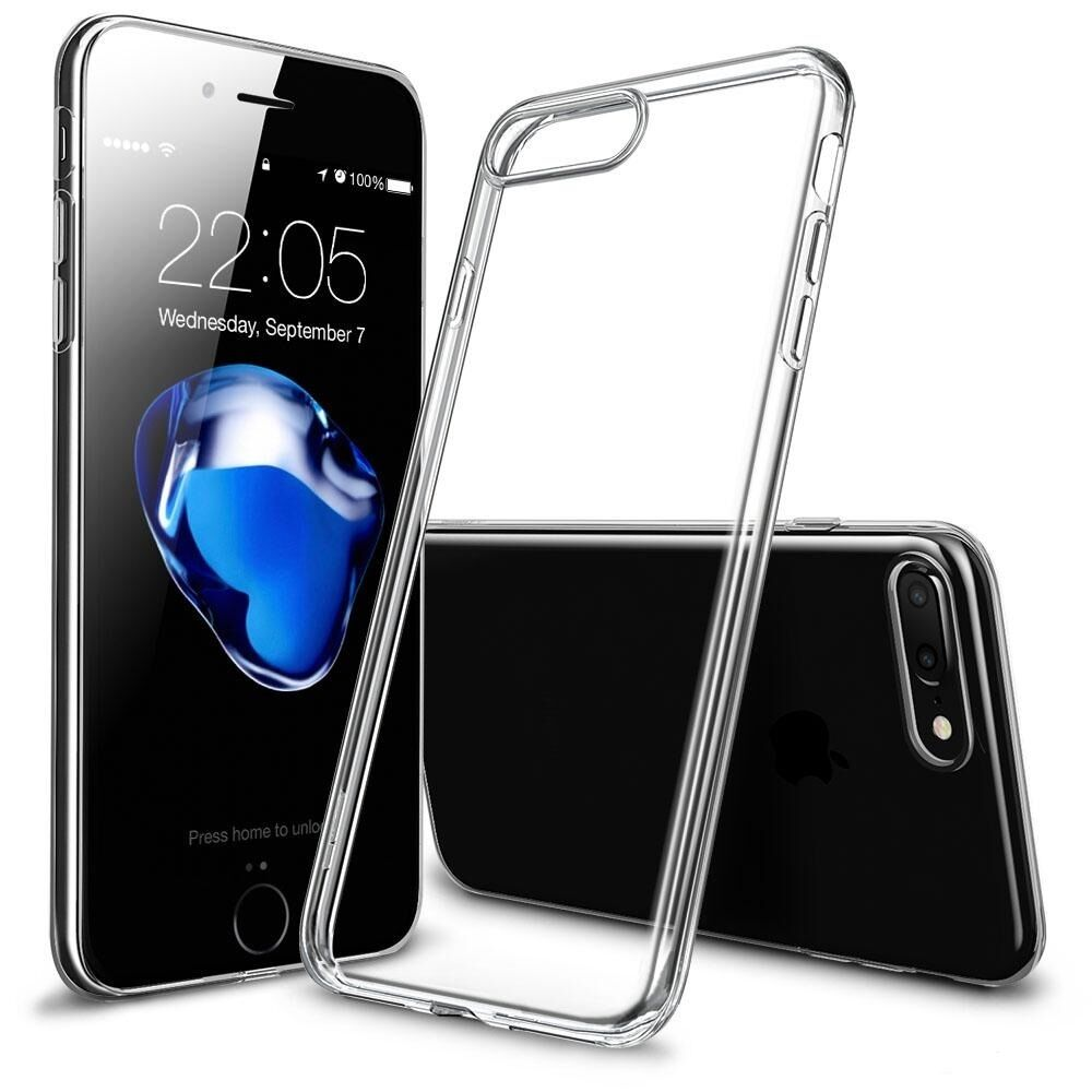 handy h lle f r apple iphone 7 plus silikon bumper schutz h lle case transparent ebay. Black Bedroom Furniture Sets. Home Design Ideas