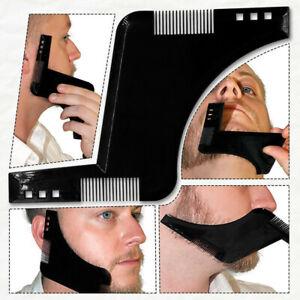 Bartschablone-Bartkamm-Bartpflege-Bart-Schablone-Rasur-Rasierhilfe-Vorlage-Tool