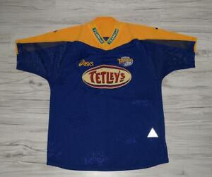 Leeds-Rhinos-Adult-Large-Rugby-League-Shirt-Jersey-Asics-Tetley-039-s-Size-M
