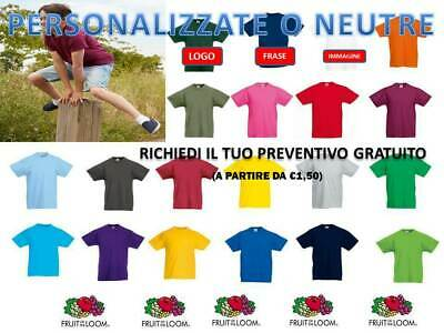Maglietta Bambino Manica Corta T-shirt Fruit Of The Loom Personalizzabile Pleasant In After-Taste Bambini 2 - 16 Anni Bambino: Abbigliamento