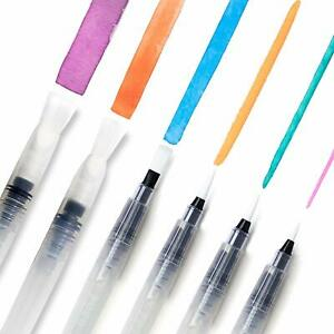 6-Stationery-Island-Aqua-Brush-Assorted-Nibs-Refillable-Water-Brush-Pens