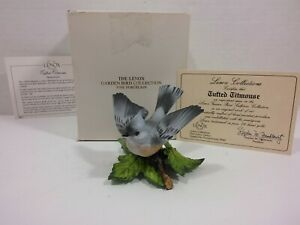 The-Lenox-Jardin-Ave-Coleccion-Mechon-Titmouse-Fino-Porcelana-1986