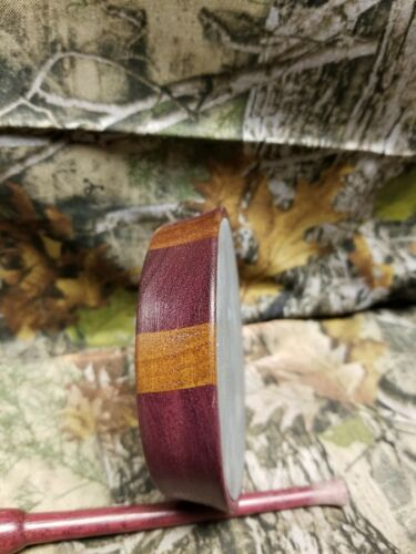 Details about  /Purpleheart  Slate over  glass Friction Pot Turkey Call with purpleheart striker