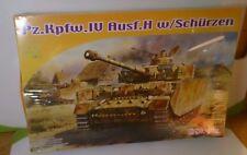 Dragon Model Kit-1:72 WWII German Tank #7497 Pz. Kpfw.IV Ausf.H w/Schurzen