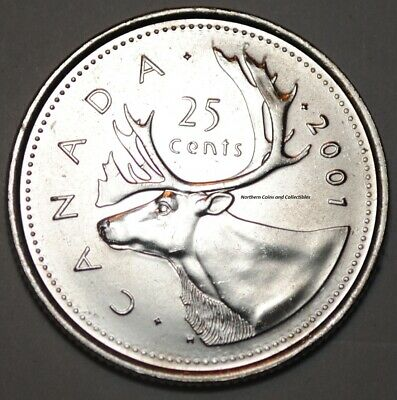 UNC 2001 Canada 10 Cent P in UNCIRCULATED Condition