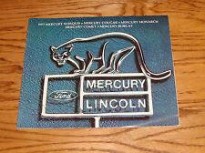 Original 1977 Mercury Full Line Sales Brochure 77 Cougar Comet Bobcat Marquis