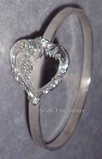 Towle Sterling Silver 1977 Old Master Pattern Solid Heart Bride Gift Bracelet