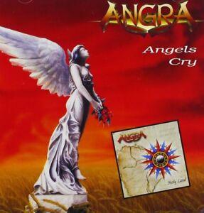 """ANGRA """"HOLY LAND/ ANGELS CRY"""" 2 CD NEUWARE!!!!!!!!!!!!!"""