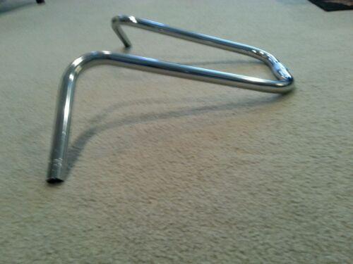 "NEW CHROME BICYCLE U  HANDLE BARS 11/"". 25.4mm"