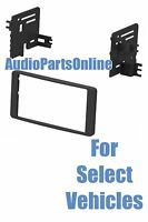 Double Din Stereo Radio Install Dash Trim Face Car Kit For Select Tundra Sequoia