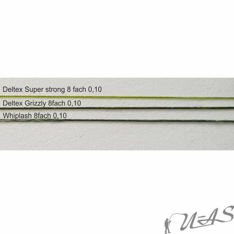 DELTEX GRIZZLY Grün 0.06mm 9,80kg 1000M PE Japan 8 fach Geflochtene Angelschnur