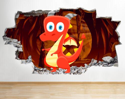 Kid Intérieure Grotte Décoration Dragon Bb213 Smashed Mignon Cartoon 4Rq3jL5A