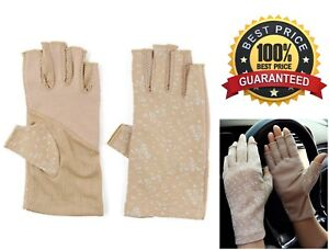 Sunblock-Fingerless-Stretchable-Womens-Gloves-UV-Sun-Blocking-Driving-Protection