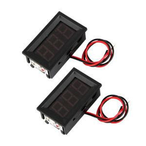 2-Mini-Digitale-Voltmetro-Tensione-Misuratore-LED-Pannello-Di-Visualizzazione-3-0-30V-A3Z7