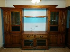 Luxury Winners Only REAL SOLID WOOD Entertainment Center TV Stand Glass Cases