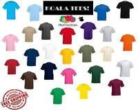 Fruit of the Loom 100% Cotton Plain Blank Men's Women's Tshirt T-Shirt