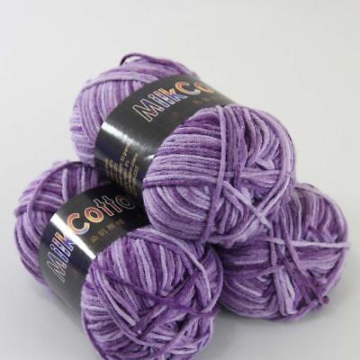 Sale 3ballsx50gr Soft Cotton Baby Yarn Hand dyed Knit Colorful socks gloves 06